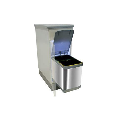 poubelle de cuisine coulissante monobac poubelle bacs 15l inox ilovedetails com