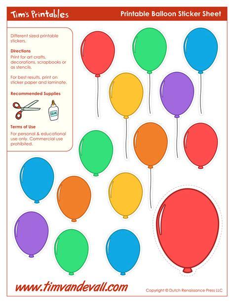Printable Balloon Template | Birthday Printables – Tim's ...