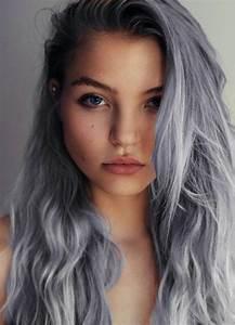 Haarfarbe Schwarz Grau : coole interessante frisuren f r lange haare granny hair lange haare bunte haare und graue ~ Frokenaadalensverden.com Haus und Dekorationen