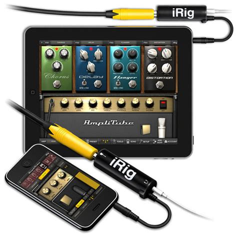 connect guitar to iphone litube irig and guitar connect cable macworld