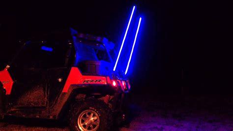 lighted whips for rzr rzr whips youtube