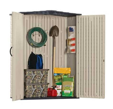 Rubbermaid Vertical Storage Shed 53 Cubic by Rubbermaid Plastic Small Outdoor Storage Shed 53 Cubic