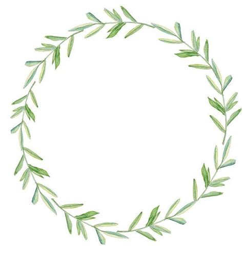 greenery clipart leafy wreath watercolor wreath watercolor etsy