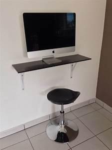 Petit Bureau Pour Ordinateur : etag re bureau en verre design pour ordinateur menuiseries doumenc ~ Teatrodelosmanantiales.com Idées de Décoration