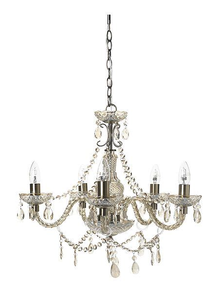 shabby chic chandeliers uk shabby chic laurent 5 arm chandelier house of fraser