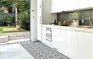 Tapis Effet Carreaux De Ciment : tapis cuisine vinyl tapis carreaux de ciment cuisine vinyl tapis de cuisine effet carreaux de ~ Teatrodelosmanantiales.com Idées de Décoration
