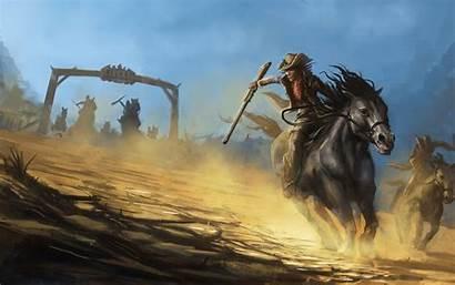 Cowboy Western Painting Rustic Battle Bandits Hats