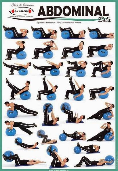 Ball Swiss Exercises Exercise Core Stability Workout