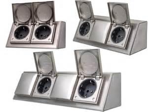 mehrfachsteckdose design design edelstahl steckdose mehrfachsteckdose verteiler leiste steckdosenleiste ebay