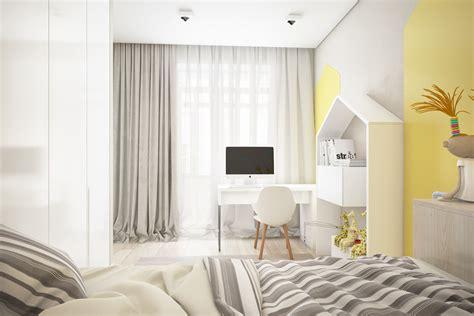 chambre enfant jaune deco chambre bebe jaune et gris