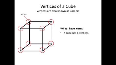 cubes faces vertices  edges youtube