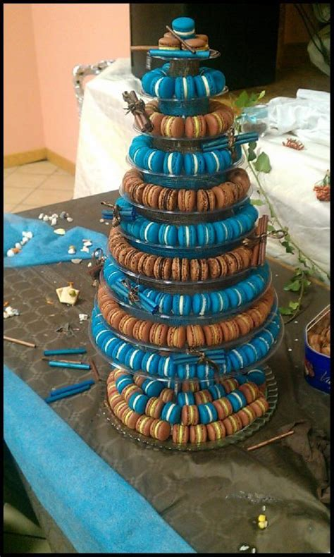 pi 232 ce mont 233 e en macarons pour mariage chocolat et