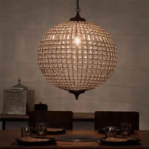 awesome suspension boule mtal finon sur maisons du monde With maison du monde luminaire