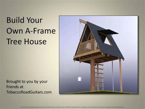 Items Similar To A- Frame Tree House, Building Plans And