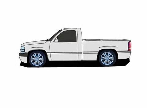 Cartoons Pickup Trucks Chevy