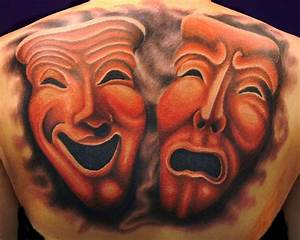 Theatre Masks by brandonbond on DeviantArt