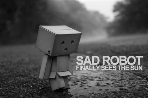 Sad Robot Finally Sees The Sun By Malan Darras