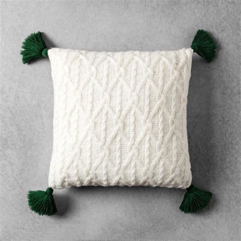 Project  Large Black Knit Throw Pillow