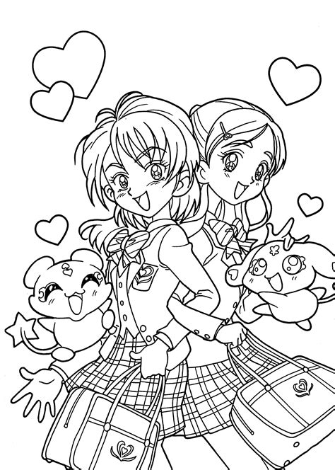 manga coloring pages to download and print for free