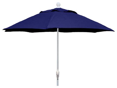 9 foot navy blue patio umbrella with white finish