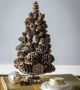 Tannenbaum Basteln Aus Naturmaterialien : puristischer weihnachtsbaum aus tannenzapfen basteln pinteres ~ Eleganceandgraceweddings.com Haus und Dekorationen