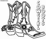 Cowboy Coloring Boots Pages Print Stuff sketch template