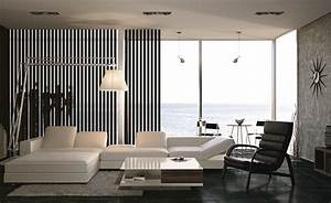 Black and white living room interior design ideas for Black and white interior design living room