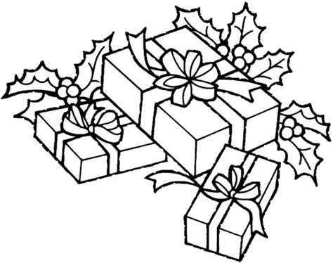 Christmas Theme Gifts Coloring Page