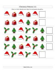 Christmas Math Shape Worksheet