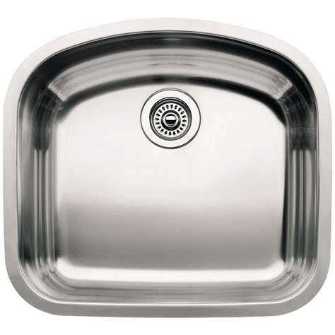 blanco stainless steel sink cleaner blanco wave undermount stainless steel 22 in single bowl