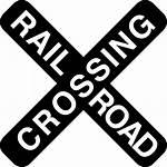 Icon Crossing Road Signal Rail Cross Icons