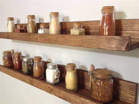 Spice Rack Shelves by Rustic Wooden Spice Rack Ledge Shelf Ledge Shelves