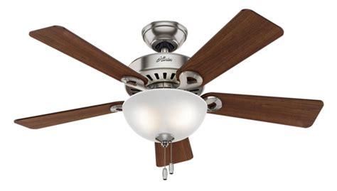 hunter ridgefield five minute fan 44 quot brushed nickel chrome ceiling fan ridgefield 51037