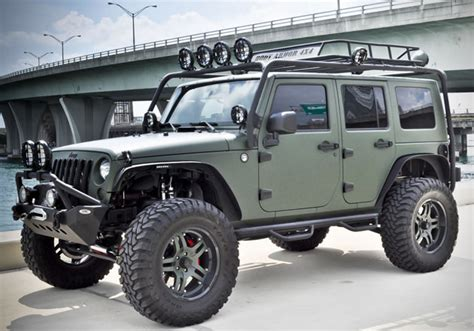 jeep wrangler military style military green jeep wrangler by cec wheels hiconsumption
