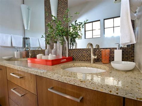 Modern Bathroom Counter by 5 Easy Ways To Declutter Your Bathroom Countertop Hgtv