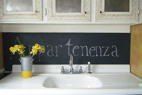 Chalkboard Paint Kitchen Backsplash :  When Writing On The Walls Becomes Fun