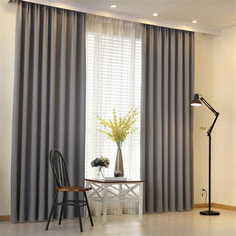 napearl modern curtain plain solid color blackout full