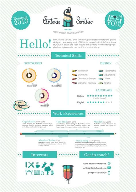 Cool Resumes by 20 Cool Resume Cv Designs Refrences