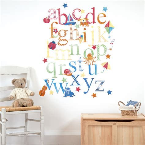 letter decals for walls large alphabet stickers for walls w wall decal