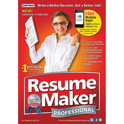 individual software resumemaker professional