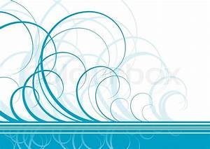 Swirl vector background in blue color Stock Vector
