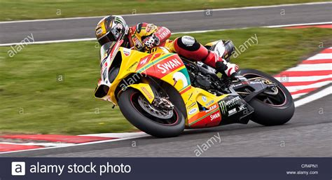 Racing Motorcycle In The British Superbikes Bsb Race