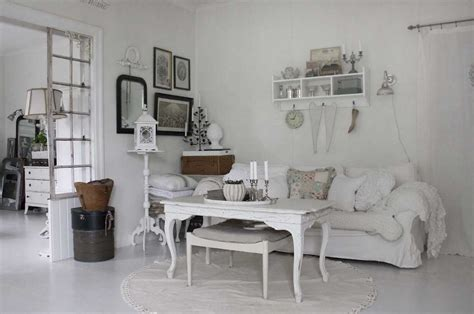 Make A White Living Room Chic & Unique : Shabby Chic Living Room Pictures With White Sofa