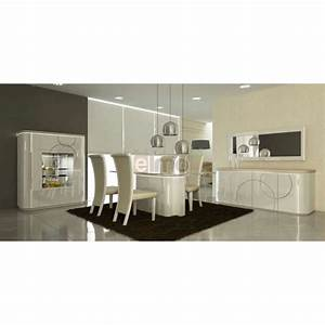 salle a manger complete contemporaine laque brillante With salle À manger contemporaine avec matelas À eau