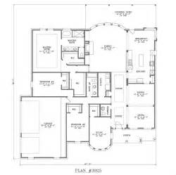 open one story house plans 3001 3500 s f