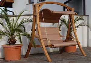 Hollywoodschaukel Holz Klappbar : design hollywoodschaukel antigua aus holz l rche alles f r garten und terrasse gartenm bel ~ Indierocktalk.com Haus und Dekorationen