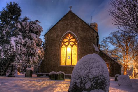 winter church weston turville church last winter when
