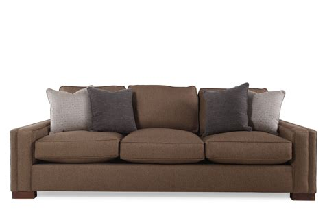 low settee casual low profile 100 quot sofa in walnut mathis brothers