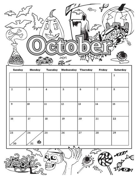 octobercolorable calendarjpg   images