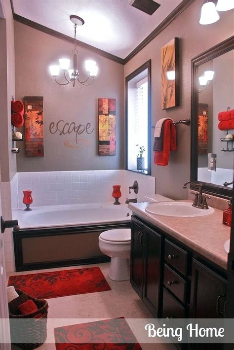 Black White And Red Bathroom Decorating Ideas